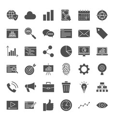 development solid web icons vector image