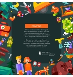 Modern flat design flyer template of vector image