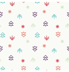Positive Light Christmas seamless pattern vector image vector image