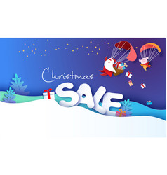 2019 new year sale design card with santa claus vector image