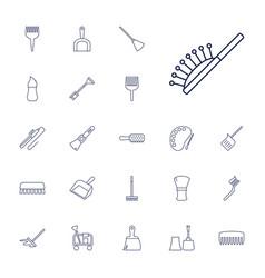 22 brush icons vector