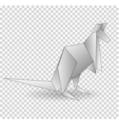 a paper origami kangaroo paper vector image