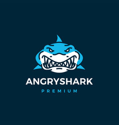 Angry shark logo icon vector