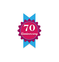 anniversary 70 years multicolored icon can be vector image