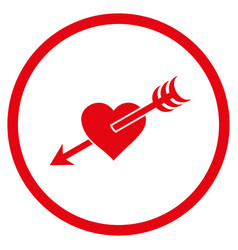 Arrow heart rounded icon vector