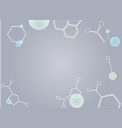 background picture abstraction with molecules vector image