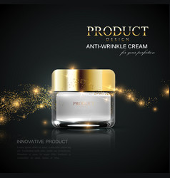 beauty cosmetics product ad vector image