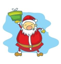 Big santa claus collection christmas vector