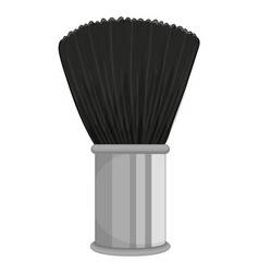 Black brush on white background vector