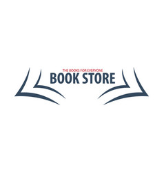 Book store logo education and book emblem vector