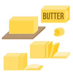 Butter in various types vector