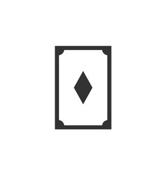 card diamond line icon simple modern flat for vector image