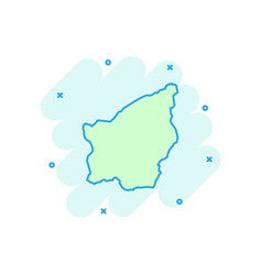 Cartoon san marino map icon in comic style san vector
