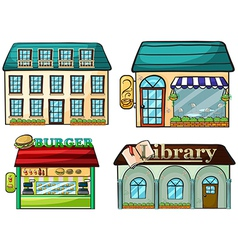 Cartoon Shops set vector