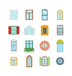 Cartoon Windows Set vector image