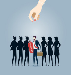 choosing best candidate business concept vector image