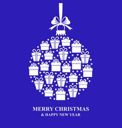 Christmas gifts ball vector