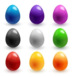 colorful glossy Easter eggs vector image