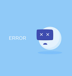 concept chatbot error vector image