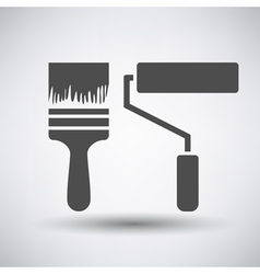 Construction paint brushes icon vector