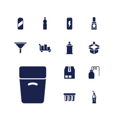 Container icons vector
