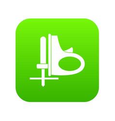 Cordless reciprocating saw icon digital green vector