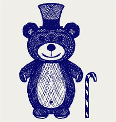 Creative teddy bear vector