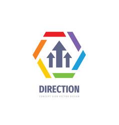 direction business logo design abstract arrows vector image