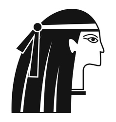 Egyptian girl icon simple style vector image