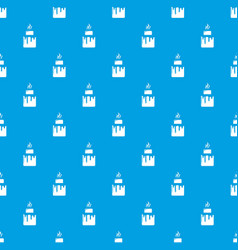 empanadas pattern seamless blue vector image