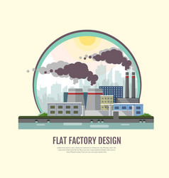 Flat style modern design of industrial factory vector