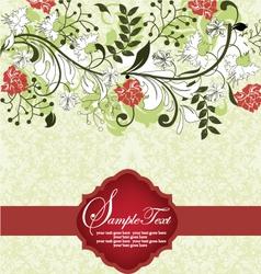 floral background invitation card vector image