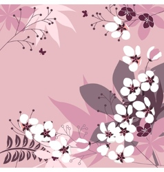 Floral frame with spring flowers vector image