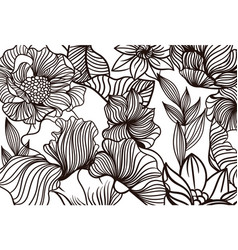 Floral simple pattern vector