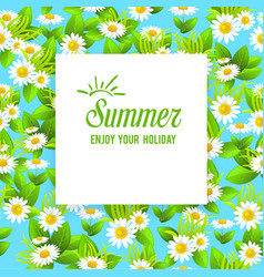 floral summer card vector image
