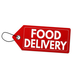 food delivery label or price tag vector image