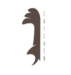 Funny chicken mascot design template vector