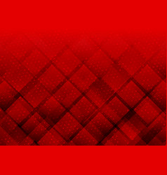 geometric elements red color with dots abstract vector image