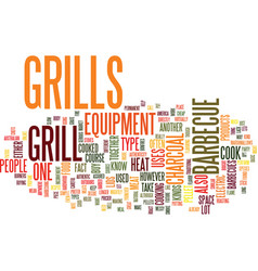 grills what you should know about this barbecue vector image