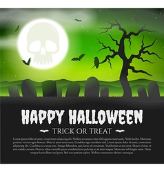 Halloween Card with gravestones vector image