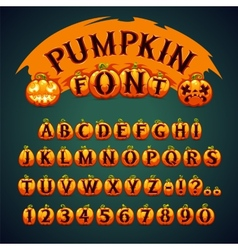 Halloween Pumpkin Font vector