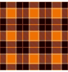 Halloween Tartan Seamless Pattern vector