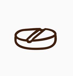 Hand drawn ashtray vector
