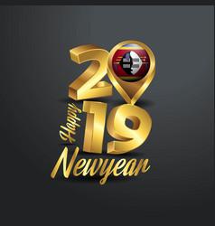 Happy new year 2019 golden typography vector