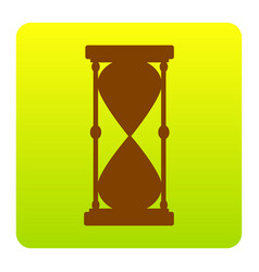 hourglass sign brown icon at vector image