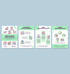 How to scale startup brochure template vector