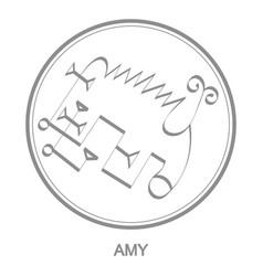 Icon with symbol demon amy vector