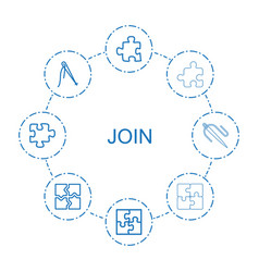 Join icons vector