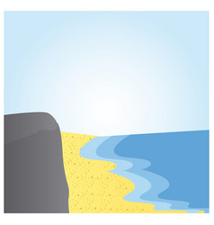 landscape beach with sea and sand vector image