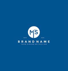 Letter ms logo design vector